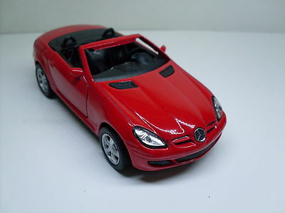 Mercedes Benz SLK Red, Welly Car Model Approx. 1:3 5-1:3 8, New Ovp