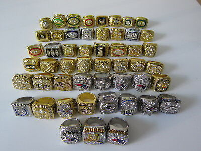 51 PCS 1966 Packers To 2016 New England Patriots Championship Ring Set Gift