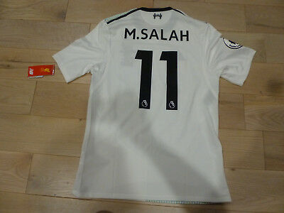 online store 04360 c8f0d NWT NEW BALANCE 2017/2018 Liverpool #11 Mohamed Salah Authentic White  Jersey (M)