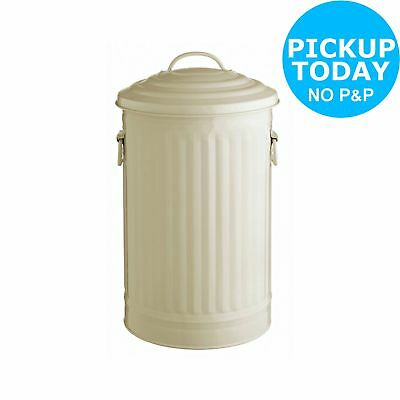 Habitat Alto 32L Cream Kitchen Bin.