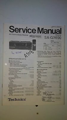 Technics sa-gx690 receiver service manual $16. 57 | picclick.