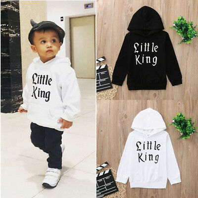 Toddler Kids Baby Boy Letter Hoodie Tops Sweatshirt Coat Outerwear Outfits