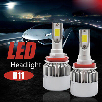 H11 H8 H9 Car LED Headlights Kit COB Lights Bulbs Hi/Lo 90W 138000LM 6000K White