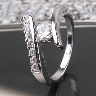 14Kt White Gold 1.20Ct Round Cut White Diamond Forever Engagement Ring For Women