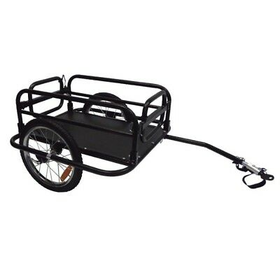 ProSeries Open Tray Bicycle Cargo Trailer - Black Heavy Duty Cycling Trailer