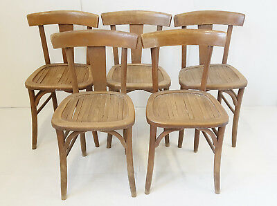 Suite Of 5 Chairs Bar Cafe Bar Vintage 1940 1950 40S 50S To Be Restored