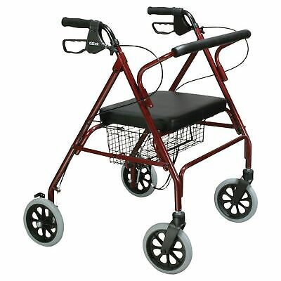 Go-Lite Bariatric Rollator 500 lbs. 35.25 to 39.5 Inch Handle Height 10215RD-1