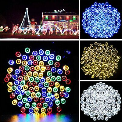 50 200 300 500 LED Solar Power Fairy Lights String Garden Outdoor Party Decor