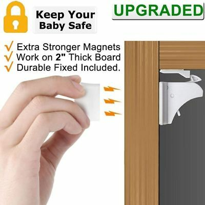 Magnetic Baby Lock Safety Protection Gaurd Cabinet Door Kids Drawer Security