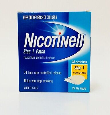 Nicotinell Step 1 Patch 21mg 24 Hours 28 Day Supply