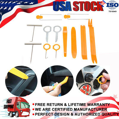12X Universal Car Radio Door Clip Panel Trim Dash Radio Audio Removal Pry Tools