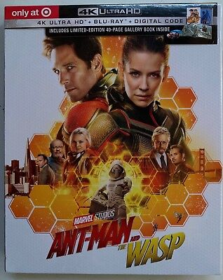 New Marvel Ant-Man And The Wasp 4K Ultra Hd Blu Ray 2 Disc Target Exclusive Book