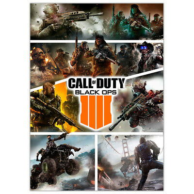 Call of Duty Black Ops 4 | Wall Art Game Posters | Boys Girls | Best Gift Ever