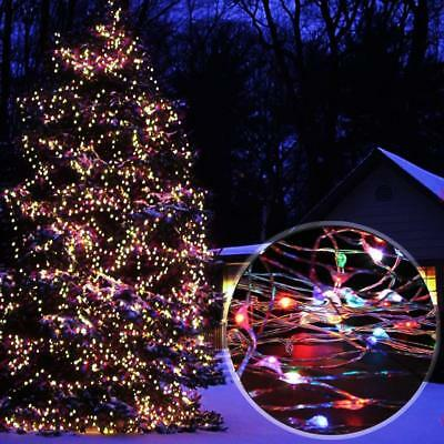 500 LED Plug Micro Rice Wire Copper Fairy String Lights Party Xmas Tree Decor