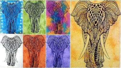 Poster Elephant Stand Design Small Tapestry Wall Hanging Fabulous Cotton Textile