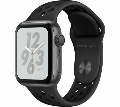 APPLE Watch Nike+ Series 4 - Space Grey & Black Sports Band, 40 mm - Currys