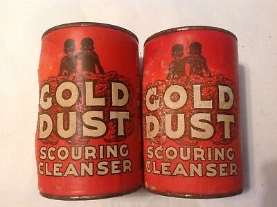 Lot of 2 Vintage Gold Dust Scouring Cleanser Powder Containers Unopened