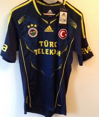BNWT Fenerbahce Away Shirt - Adidas Turkey Football Jersey Uk Small