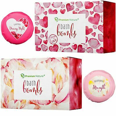 Bath bombs Holiday Christmas Gift Idea Fizzies Bubble Set Women Men Xmas Present