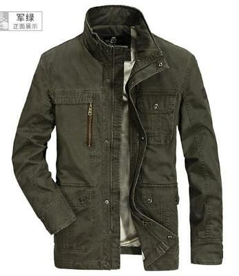 NEW Winter Mens Military Trench Coat Plus Velvet Jacket Parka Thick Cotton