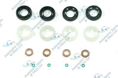 Ford Fiesta Fusion Focus 1.6 TDCi 4x New Fuel Injector Seal Washer Oring Kit