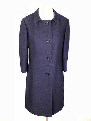 CULT VINTAGE '70 Cappotto Donna Lana Trapezio Wool Woman Coat Sz.M - 44