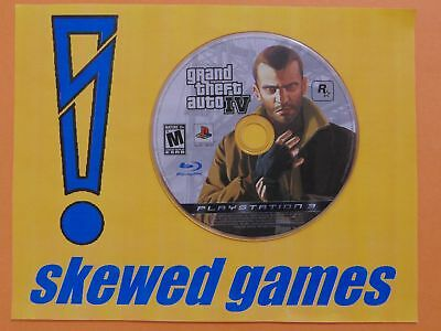 Grand Theft Auto IV - GTA 4 - Disc Only - PS3 PlayStation 3 Sony