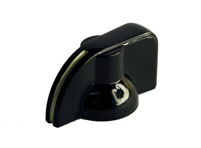 "Black ""Bakelite"" Pointer Knob with grub screw suitable for for 6.35mm (1/4"") sha"