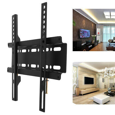 25KG TV Wall Mount Bracket Fixed Flat Panel TV Frame for 12-37 Inch Flat Panel