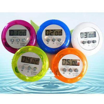 Mini Magnetic Round LCD Digital Cooking Kitchen Gadget Count down Alarm Timer FT
