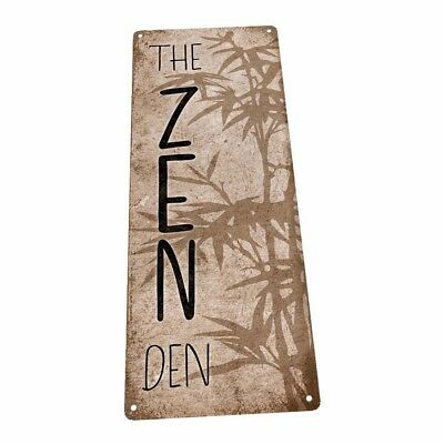 The Zen Den Bamboo Metal Sign; Wall Decor for Office or Meeting Room