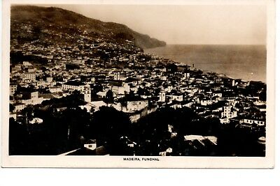 Postcard, View of Madeira, Funchal, Canadian Pacific Cruise Real Photo, 1930