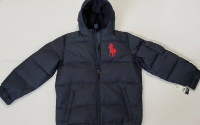 select for original latest fashion largest selection of 2019 NWOT POLO RALPH Lauren BOYS DOWN PUFFER JACKET COAT BIG PONY HOODIE,M #97