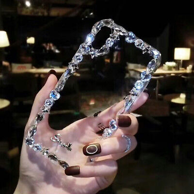 For iPhone XS Max 8 7 6 Luxury Crystal Diamond Rhinestone Bling Women Case Cover