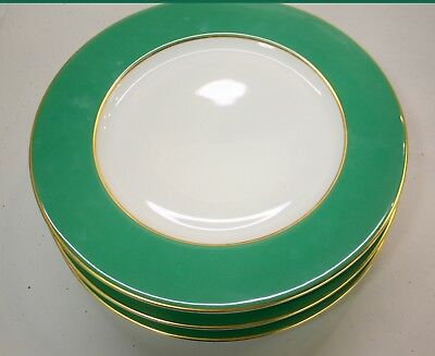 "Raynaud French Horizon Green Gold Filet Charger Presentation Plate 12"" Dia. NEW"