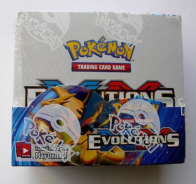 Evolutions FACTORY SEALED Booster Box 36 Packs NEW Official Pokemon Cards in UK