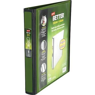 Staples Better View Binder, Olive D 3-Ring
