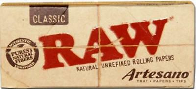 Raw Artesano Classic King Size Slim - 32 Papers, 32 Tips & A Tray 1|3 |5 10 & 15