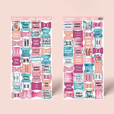 Spanish Floral & Colorful Espanol Bible Tabs Peel and Stick By Bibles and Coffee