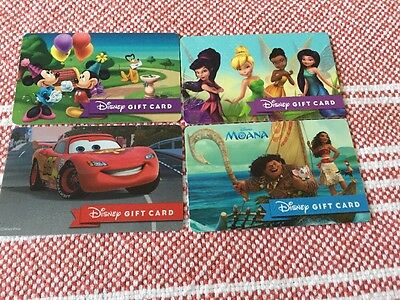 Disney Gift Card - Lot Of 4  - No Value