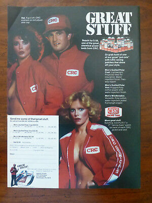 vintage 1980's CRC Chemical NASCAR Race Team spray can magazine ad naked lady