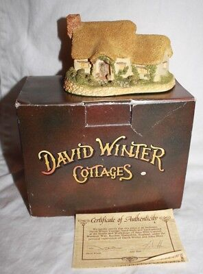 David Winter Rose Cottage in Original Box with COA 1980