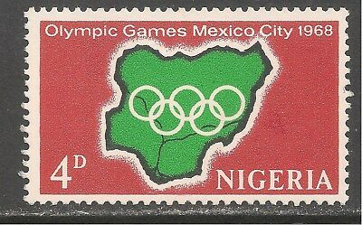 Nigeria #222 VF MINT LH 1968 - 4p Map of Nigeria and Olympic Rings