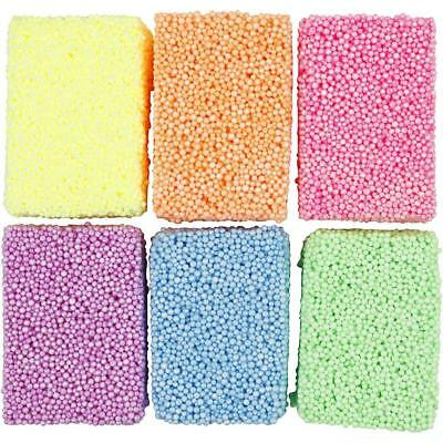 Modelling Clay Foam Beads 6 Assorted Neon Colours Moulding Ceramic Crafts 10 g