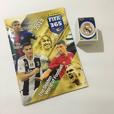 Original Panini FIFA 365 2019 complete set of all 446 stickers+album
