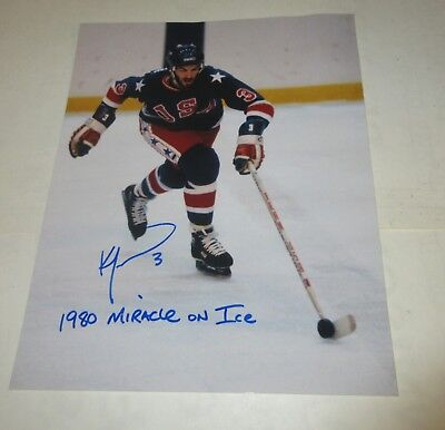 Ken Morrow Usa 1980 Olympic Miracle On Ice 1980 Signed Autographed 8X10