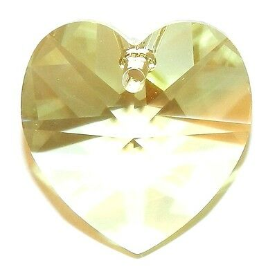 SCI339 Jonquil Yellow 18mm Faceted Heart Swarovski Crystal Pendant Drop Bead