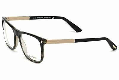 bf41b6cb879c5 Tom Ford TF 5351 005 Shiny Black Half Marple   Demo Lens 54mm Eyeglasses