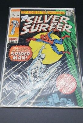 The Silver Surfer #14 Vg/vg+ 1970