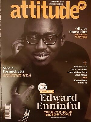 Attitude Magazine September 2018 Issue 300 - Edward Enninful Nicola Formichetta